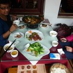 our lunch for 3 adults cost $A 25 @ 6.4RMB/A$