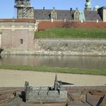  View of the castle across the moat