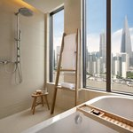  Hotel Indigo guest bathroom view of Shanghai