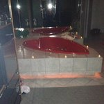 Very romantic in-room jacuzzi tub