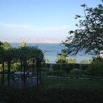  View towards the lawn and the Kinneret (Sea of Galilee)