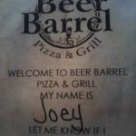 Beer Barrel Pizza &amp; Grill