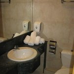 Room 612, bathroom: no wash cloths or bar soap, old hair dryer