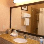 Guest Room Bathroom at Holiday Inn Express Mesquite Hotel