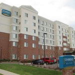 The Staybridge Suites from the front.