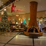  This is the lobby at Christmas - really festive!