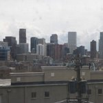 View of Downtown Denver skyline from room 419
