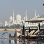 Sheikh Zayed Mosque from poolside