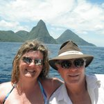 In front of the Pitons
