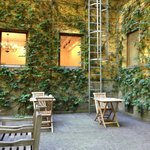 Plesant courtyard; enjoy your coffee here