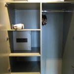 Storage cupboard and room safe