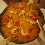 Paella dinner in the room