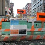 Construction on Grand St during my stay