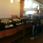 Breakfast buffet; well-tended, great food, nice seating