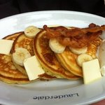  Lauderdale buttermilk pancakes with bananas &amp; whipped cream