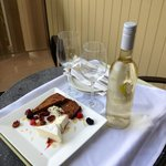  Our complimentary wine &amp; appetizers!