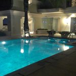 attractive pool area
