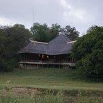  Looking back at the Main Lodge from the river