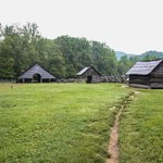 Mountain Farm Museum behind Visitor Center