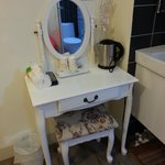 mirror table with coffee/tea making facilities