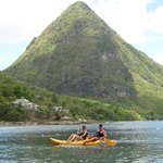  Kayaking under Gros Piton - Sugar Beach