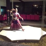 Traditional dance performance in restaurant during dinner