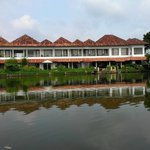  View of resort from the Pamba river