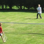 May Bank Holiday, enjoying fine weather and tennis