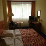  Room was clean but not very pleasant ambience