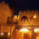  hotel roman - facciata  notte