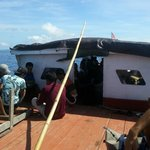 Local boat we took to go back to Manado