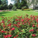 A small beautiful park next to Uspenski Cathedral -Russian Orthodox church