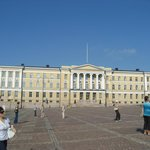 The University building next to Helsinki Lutheran Cathedral