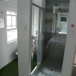 Do Not Disturb transparent shower