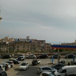  View from balcony to petrol station