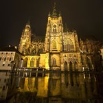 St Vyt - Prague Castle at night