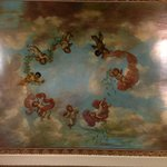 Fresco cherubim on lobby ceiling.