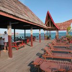 Borneo Divers jetty bar. Your first drink is your last dive!