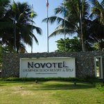 Novotel Plate in front of the hotel.