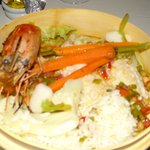 Shrimp (they call it something different) with Snapper yummy