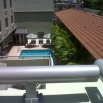 View of pool from our corner balcony