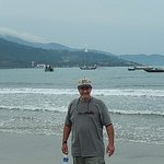 China beach w/view of largest lady Buddah in background.