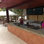 New beachside grill & separate seating area near main pool