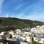  the view of Moulay Idriss village from the terrace
