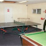  The Games room with table tennis and pool tables