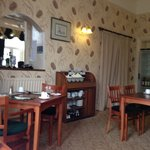 Dining area immaculately decorated and cosy