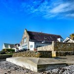 Port Eynon Youth Hostel from the beach