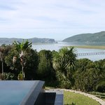 View pf the Knysna River and Heads from guest house rooms