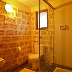Salt brick bathroom