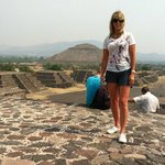  Standing on top of the Temple of the Moon with the Temple of the Sun in the background